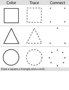 Printable worksheets for kids Geometric Shapes 70