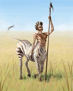 """Nubian Centaur"" by Petrichora on DeviantArt. Mythical Creatures Art, Mythological Creatures, Magical Creatures, Fantasy Races, Fantasy Art, Afro Art, Character Design Inspiration, Creature Design, Fantasy Characters"