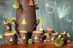 família de árvores cute