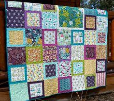 Quilt Lap Throw Succulence Art Gallery Fabrics by PiecesOfPine