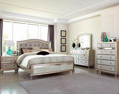 Coralayne Silver Bedroom Set …   Pinteres…
