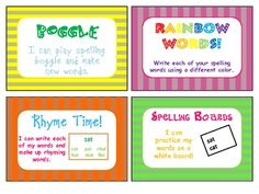 Word Work for Spelling Task Cards - Copeland's Got Class in 3rd - TeachersPayTeachers.com