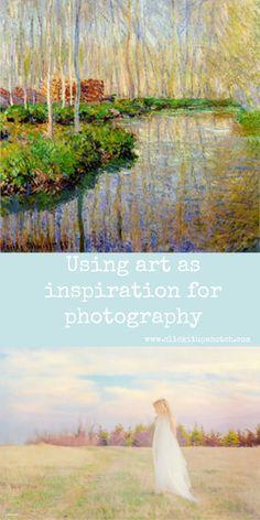 Using art as inspiration for photography by Caroline Jensen via Click it Up a Notch