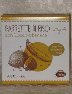 Barrette di Riso con Cocco e Banana