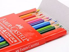 Amazon.com: FC-200-TC24 Faber-castell Soft Lead-no Pressure Required Tri-colour Pencils (Set of 24)