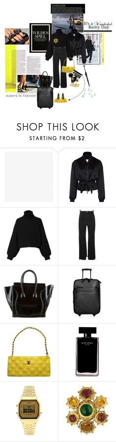 """a dash of lemon zest"" by la-rosy ❤ liked on Polyvore featuring Maison Margiela, Diesel, Vetements, CÉLINE, Burberry, Chanel, Narciso Rodriguez, Alexander McQueen, Topshop and Pasotti Ombrelli"