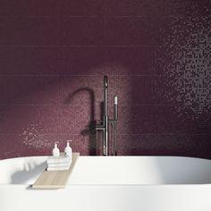 Studio Conran hartland plum pressed mosaic plum gloss tile x