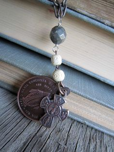 Vintage  recycled religious medals necklace by susanruppel1 on Etsy, $54.00