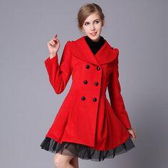 Spring Autumn Winter Coat 2016 Women Double Breasted Outerwear Elegant Dress Coat Women Slim Skirt Coat woolen  Jackets on Aliexpress.com | Alibaba Group