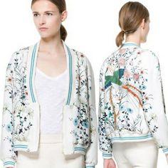 2014 Newest Chinese Style Vintage Phoenix Printing V-Neck Bomber Biker Jacket Elegant Women Drop Shipping $31.20