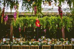 Wedding reception on Piva Terrace at Duke Gardens