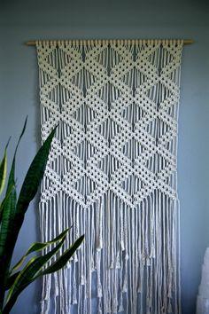 Grande Macrame colgante de pared cable de algodón por BermudaDream