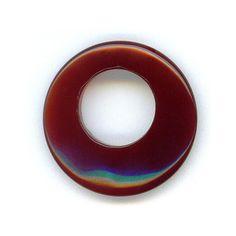 $2 Starting Bid: Red Carnelian Gemstone Loop Pendant (supplies)  http://www.outbid.com/auctions/1779#6