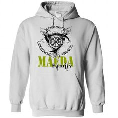 MAEDA Family - Strength Courage Grace - #shirt women #dressy sweatshirt. ADD TO CART => https://www.sunfrog.com/Names/MAEDA-Family--Strength-Courage-Grace-rymfxluexl-White-50872731-Hoodie.html?68278