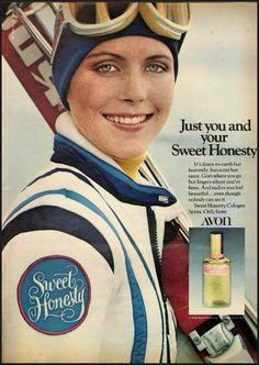 Avon Sweet Honesty Cologne Spray, 1976. #Avon #fragrance