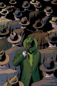 """Green Hornet"" by Paolo Rivera, American cartoonist. Works for Marvel Comics"