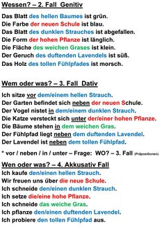 Deutsch als Fremdsprache DaF DaZ Grammatik - Adjetive-neu - Valéria Magyar - German Language Course, German Language Learning, Language Study, German Grammar, German Words, Reflexive Verben, German Resources, Application Cover Letter, Deutsch Language