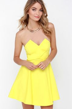 thefloralfedora:   Flare Thee Well Yellow... - Braless Fashion