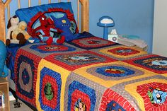 A superhero quilt for a super boy