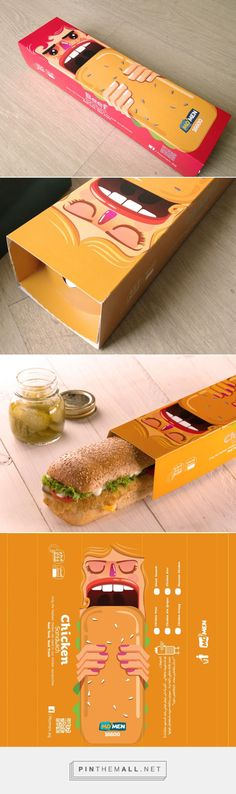 MOMEN Sandwich         on          Packaging of the World - Creative Package Design Gallery - created via http://pinthemall.net