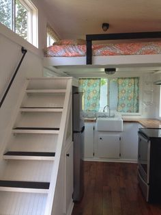 staircase in a tiny house! see more photos at http://musiccitytinyhouse.com/ and tiny house swoon. built by #tinyhappyhomes