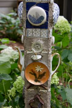 I would love to make something like this great way to use up lots of yardsale junk!                                                                                                                                                                                 More