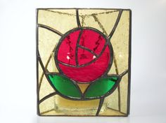Victorian Rose Stained Glass Candle Holder by FleetingStillness, $75.00
