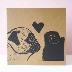 Last orders for Valentine's Day cards! I'll be posting these out tomorrow so that you lovely lot get them in time for the special day next week. Order by tomorrow morning to ensure you're card arrives in time! Mop Dog, Pug Mops, Cute Pug Pictures, Carlin, Baby Pugs, Pug Art, Puppies And Kitties, Cute Pugs, Art Hoe