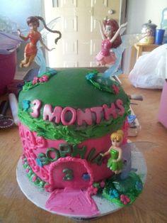 Fairy Theme 3 month celebratikn cake for Princess Sophia