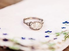 Resetting an Heirloom Stone   Photo by: Paige Eden Photography   TheKnot.com