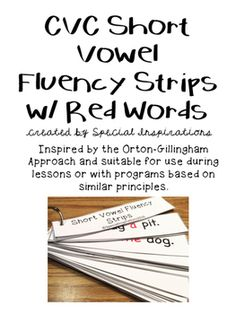 Practice fluency with these fluency strips. Great addition to literacy centers, phonics lessons, and/or tutorial sessions. Includes 30 sentences. Suitable for use during Orton-Gillingham Lessons or with programs based on similar principles. Your feedback is greatly appreciated!