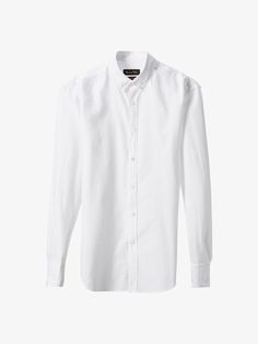 Autumn Spring summer 2017 Men´s SLIM FIT WHITE SHIRT WITH ELBOW PATCHES at Massimo Dutti for 65.5. Effortless elegance!