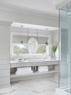 Bath with Shower Tagged: Bath Room. Hampton's House by Mitchell Wall Architecture & Design. Browse inspirational photos of modern bathrooms. Explore sinks, bathtubs, and showers, creative tile designs, and a variety of counter and flooring ideas. Hamptons Style Bedrooms, Hamptons Style Decor, Hamptons House, The Hamptons, Hampton Style Bathrooms, Bathroom Styling, Bathroom Inspo, Bathroom Ideas, Tile Design