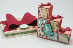 Stampin' Up! Stamping T! - Blocks Card and Box. Check out the link on how to do the Block Card. I've made several and people are amazed that it can fold up flat. ;)