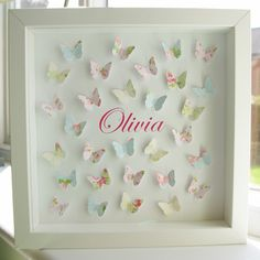 Paper Butterflies Personalised Picture by Molly & Madeleine