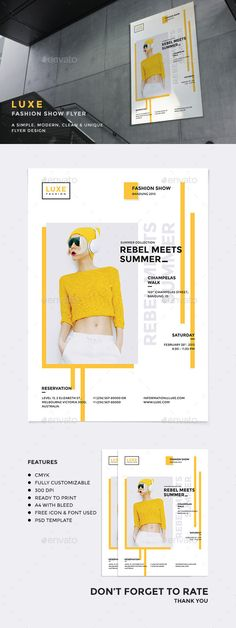 Luxe - Fashion Show PSD Flyer Template • Only available here ➝ http://graphicriver.net/item/luxe-fashion-show-flyer/10970747?ref=pxcr