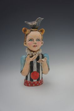 Have A Ball ceramic Sculpture by Victoria Rose Martin. $180.00, via Etsy.