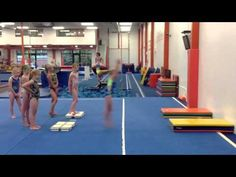Hurdle Drill --- great especially for it itty bitties Gymnastics Academy, Gymnastics Floor, Tumbling Gymnastics, Gymnastics Skills, Gymnastics Videos, Gymnastics Coaching, Gymnastics Training, Gymnastics Workout, Olympic Gymnastics