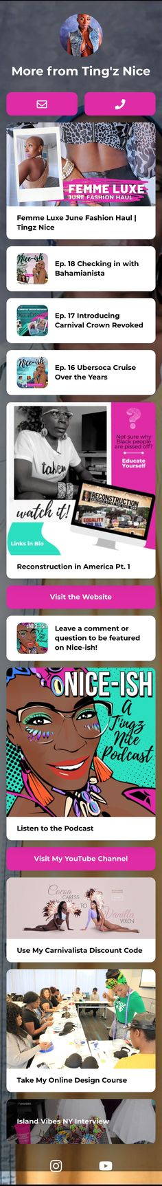 📍The nicest spot for all t'ingz carnival 📽️ Influencer | 🖌️Designer | 🎤Podcast Host ℹ️👇🏾 Subscribe to the Carnival Podcast 👇🏾 Personal Branding, Carnival, The Creator, Social Media, Content, Nice, Landing, Highlight, Business