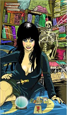 Twisted Tarot Tales movie add on Elvira as the HIgh Priestess #tarot,elvira,#tarotcards,#divination,#art.#horror,#oracle
