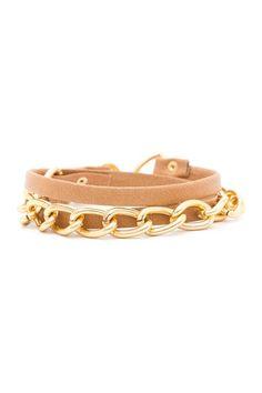 http://www.hautelook.com/short/3MbW4Graham Chain & Leather Wrap Bracelet by Gorjana on @HauteLook