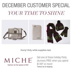 The Miche Feliz handwarmer, beanie and scaft set has been added as on of the FREE Miche Gift with Qualifying Purchase choices in December! #gifts #christmas #holidayfashion