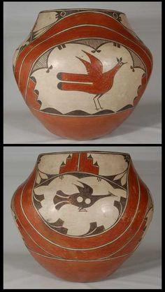 Zia Pueblo Polychrome Large Storage Jar