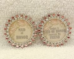 Maid Of Honor Pin Gift Wedding Party by PegsEmbellishedGifts