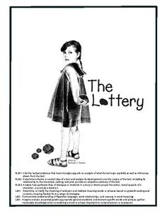 The Lottery ~Shirley Jackson UNIT Vocab, Reading Prompts