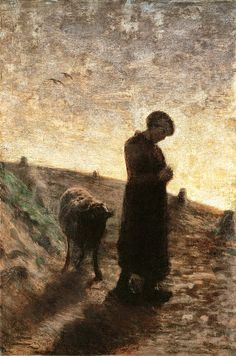 Giovanni Segantini (It, - Ave Maria sui monti - Italian Painters, Italian Artist, Nocturne, Saint Moritz, Local Hotels, Most Famous Artists, Pointillism, Nature Images, Mountain Landscape