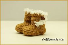 Fun Fur Crochet Boots Free Pattern