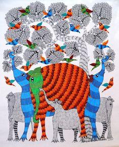 Indian Artwork, Indian Folk Art, Indian Art Paintings, Indian Artist, Indian Ethnic, Art Gallery In Delhi, Madhubani Painting, Elements Of Art, Mandala Tattoo