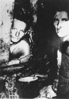Warsaw Ghetto inhabitants hide in a bunker. The Warsaw Ghetto Uprising (April 19-May 16, 1943) was the twenty day battle initiated by the Jewish fighting forces in Warsaw when German troops entered the ghetto to begin the final round of deportations. Photo credit: Archiwum Akt Nowych