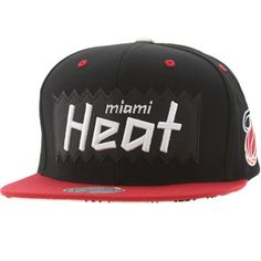 huge selection of 889d2 c9d66 BAIT x NBA x Mitchell And Ness Miami Heat STA3 Wool Snapback Cap (black    red)